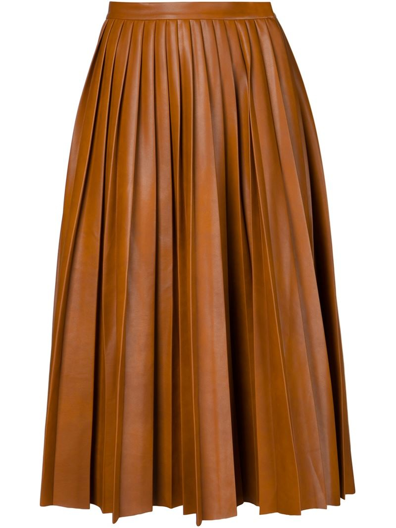 By malene birger Flared A-Line Skirt in Brown | Lyst