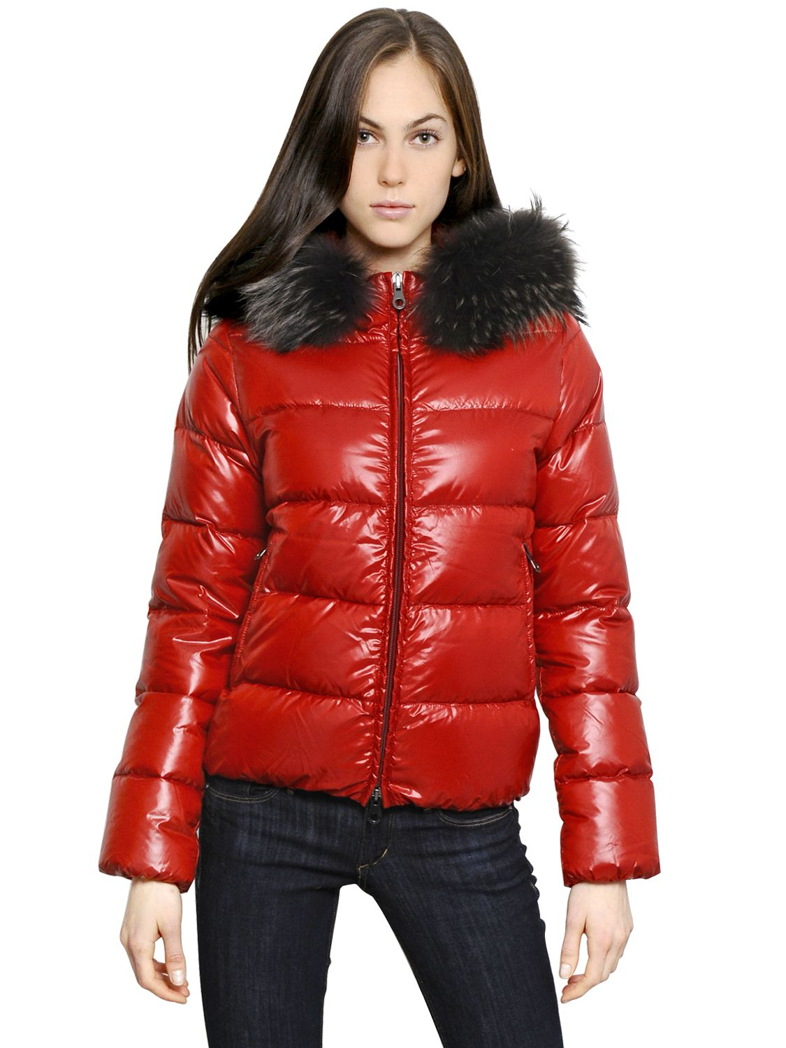 Red Down Coat Sm Coats