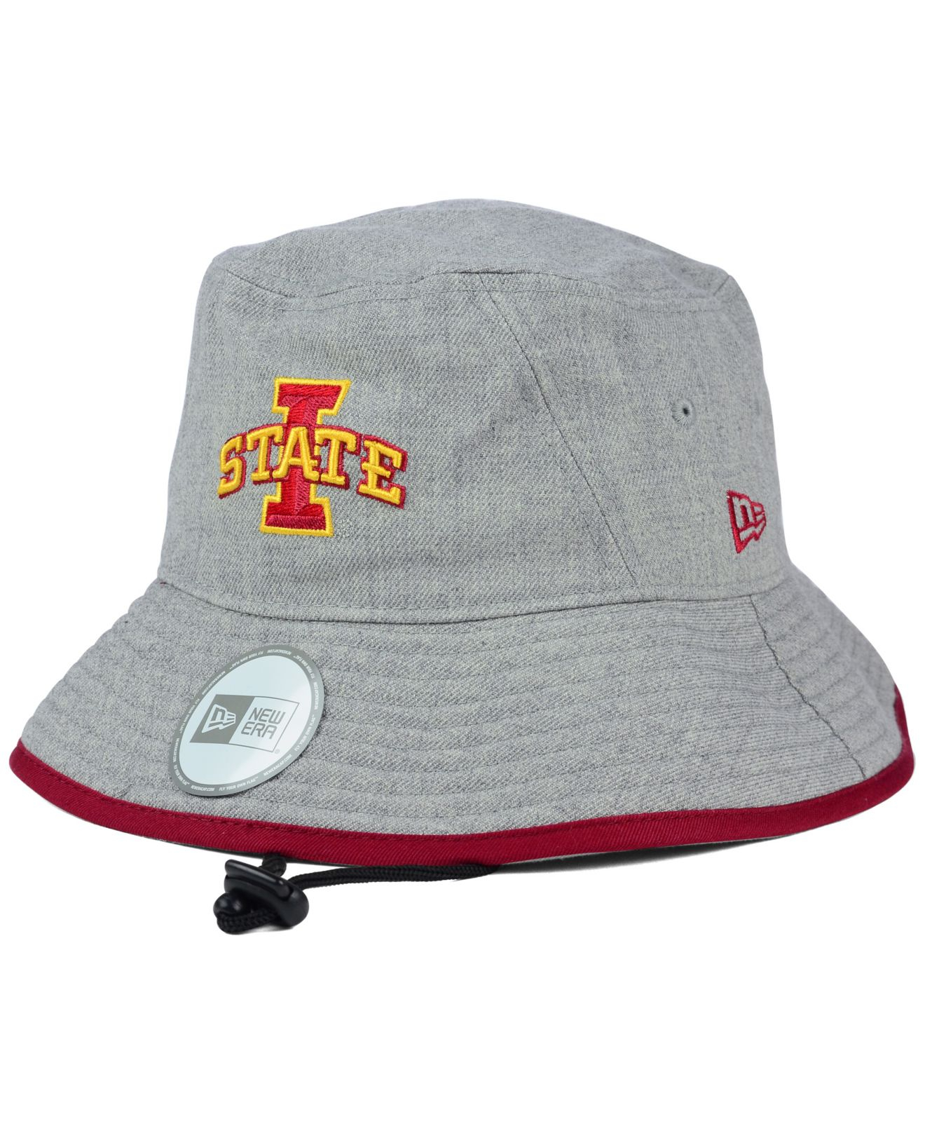 Lyst - KTZ Iowa State Cyclones Tip Bucket Hat in Gray 0a2fefe352ad