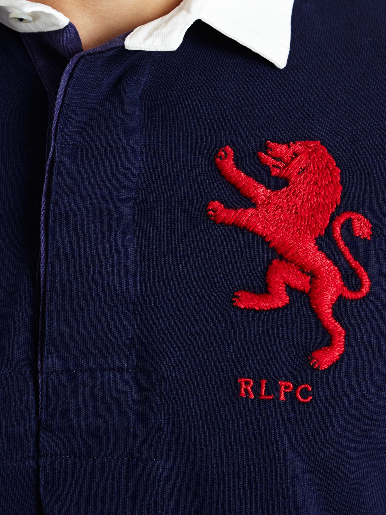 Polo Ralph Lauren Lion Rugby Jersey Top In Blue For Men Lyst