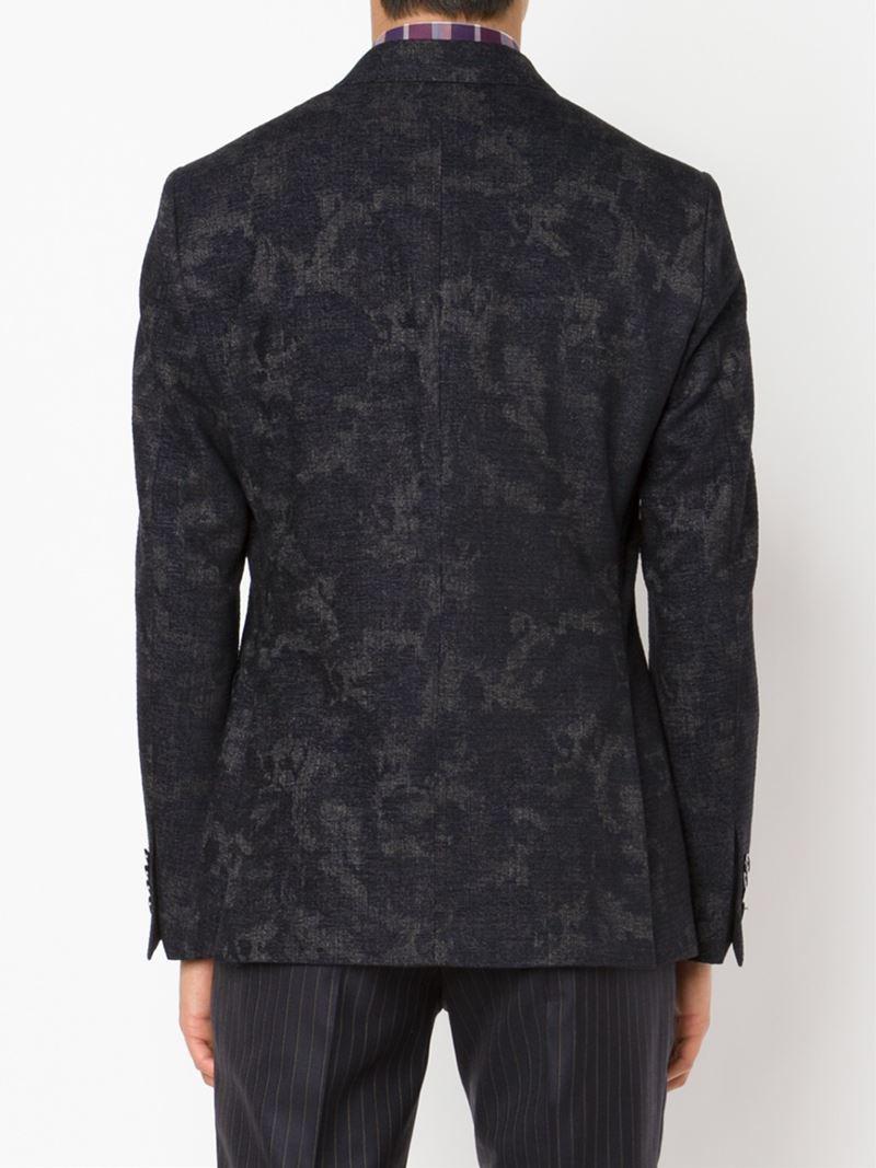 Lyst Etro Jacquard Blazer In Black For Men