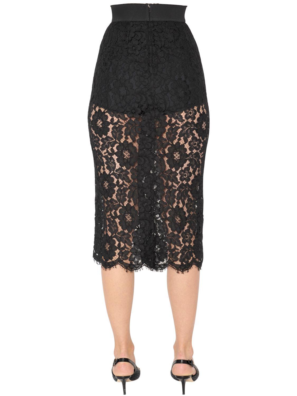 Lace black pencil dress