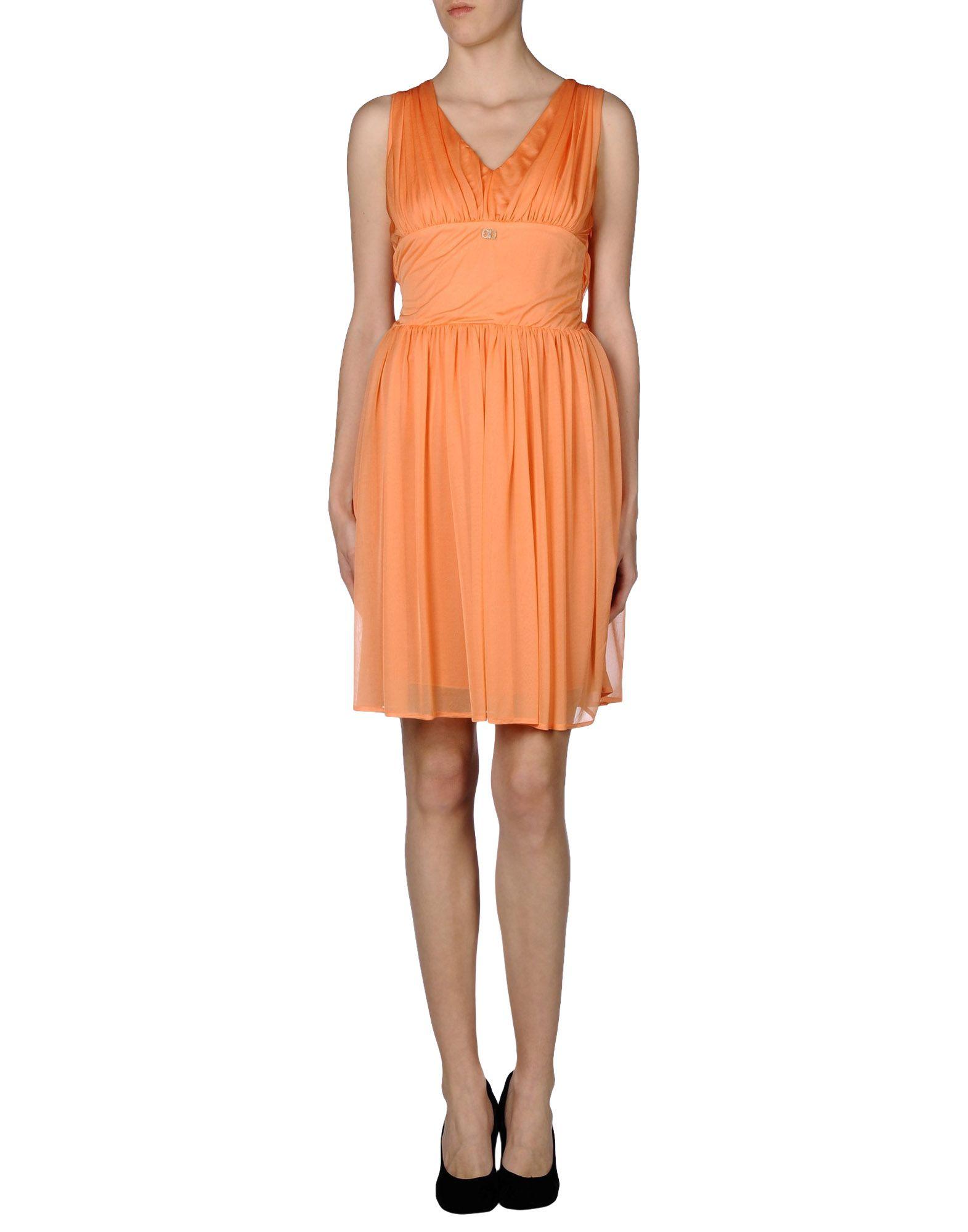 Lyst - Class roberto cavalli Short Dress in Orange