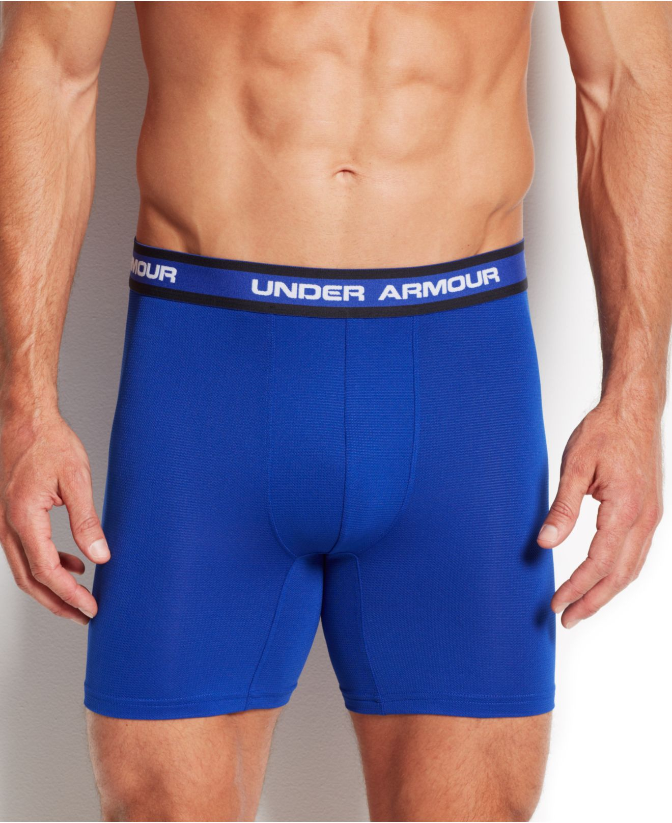 Under armour performance mesh boxer briefs 2 pack in blue for Mens under armour under shirt