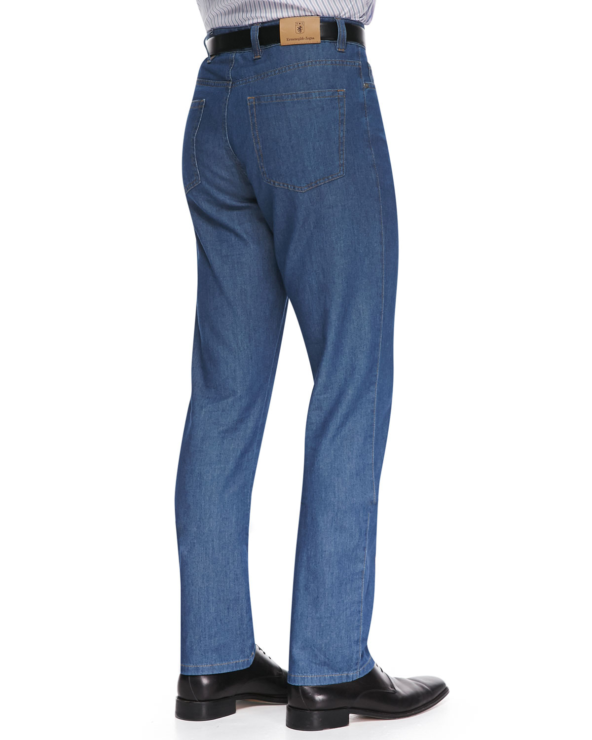 Lyst - Ermenegildo Zegna Twill Denim Jeans in Blue for Men