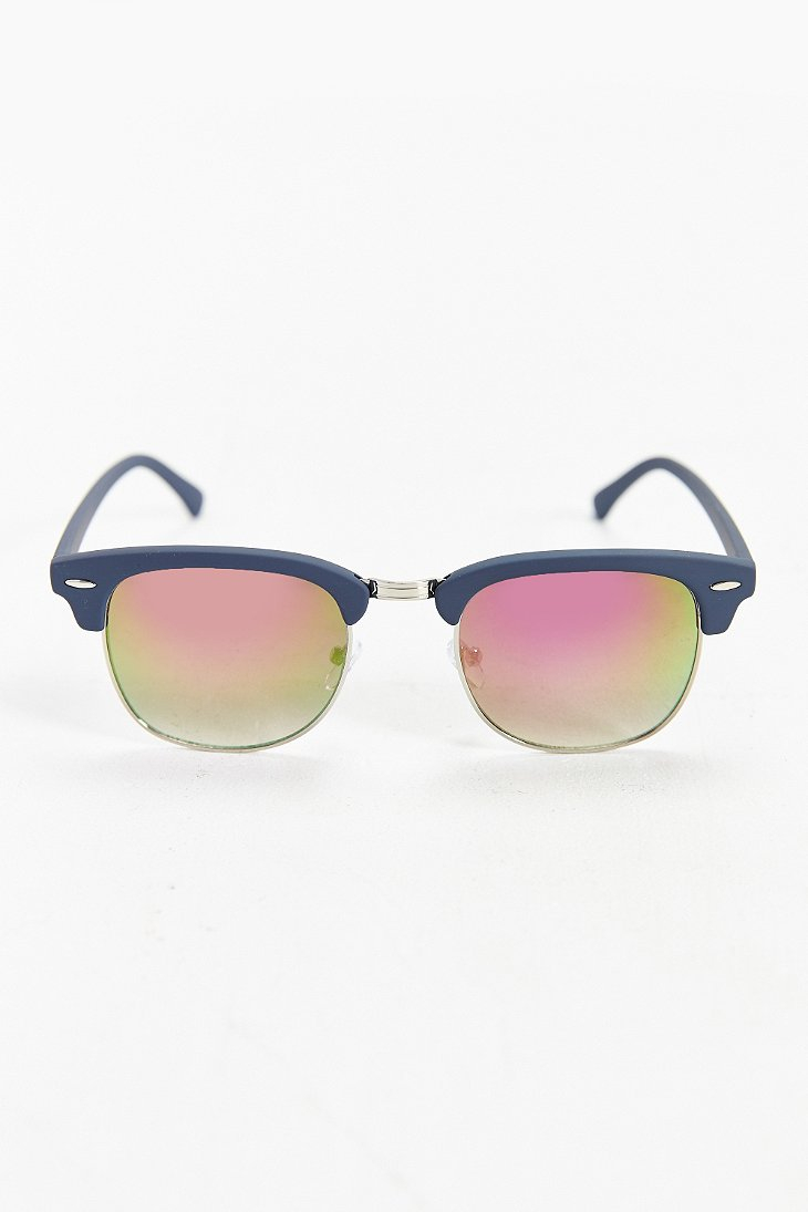 Glasses Frames Urban Outfitters : Urban outfitters Half-frame Sunglasses in Blue for Men Lyst