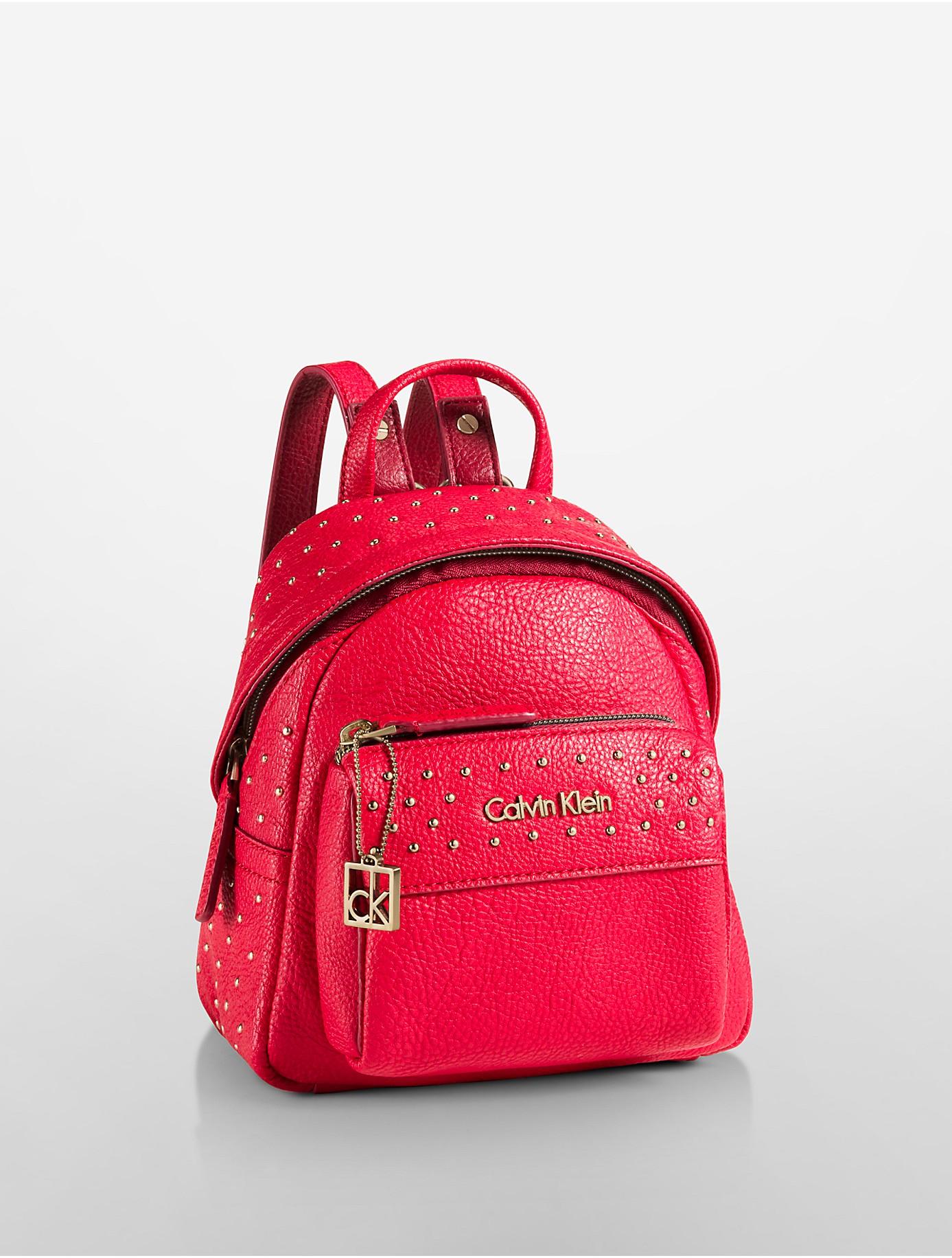 9040758d5ea Lyst - Calvin Klein White Label Hailey Studio Backpack in Purple