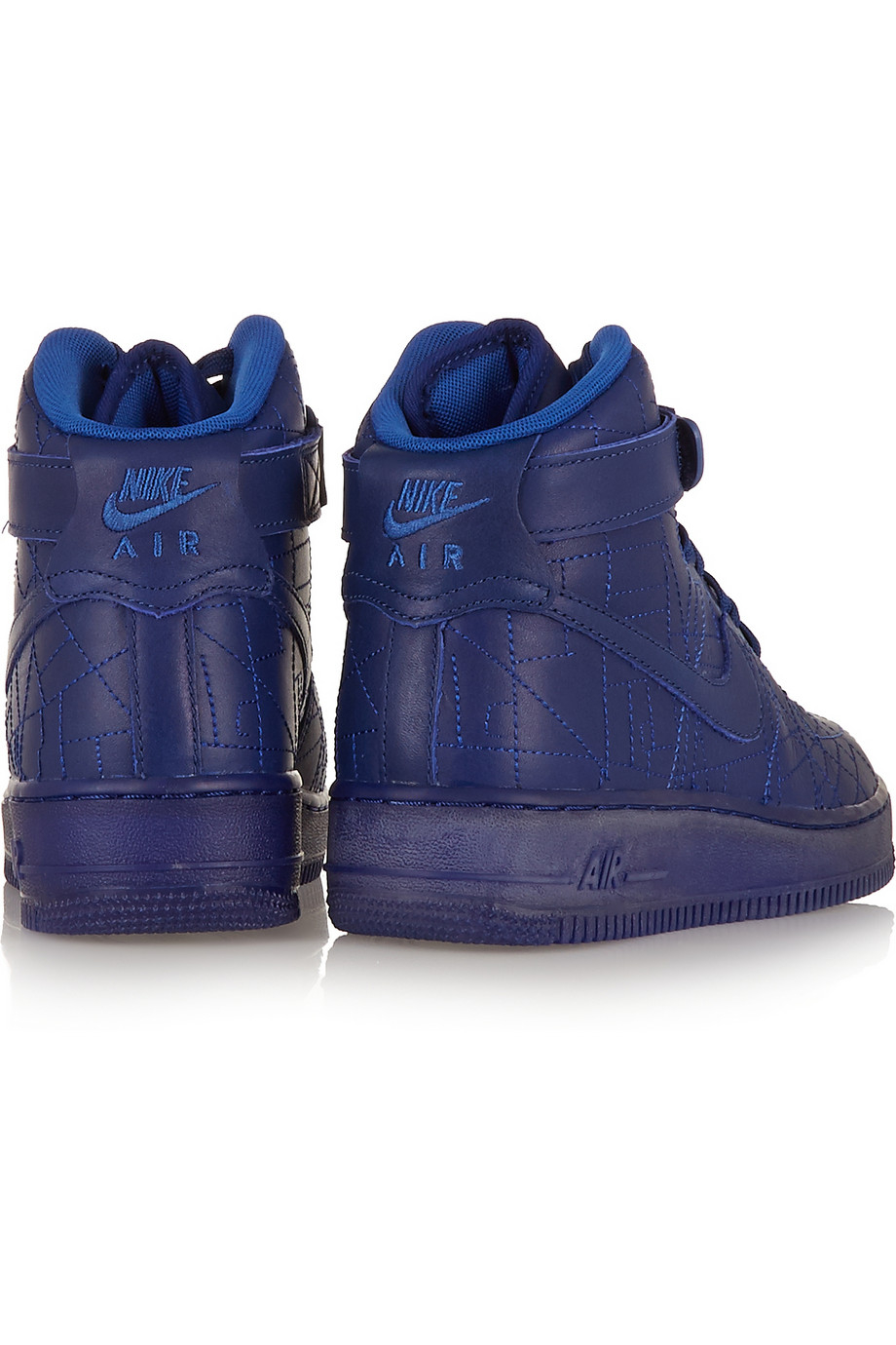 nike air force 1 paris leather high top sneakers in blue. Black Bedroom Furniture Sets. Home Design Ideas