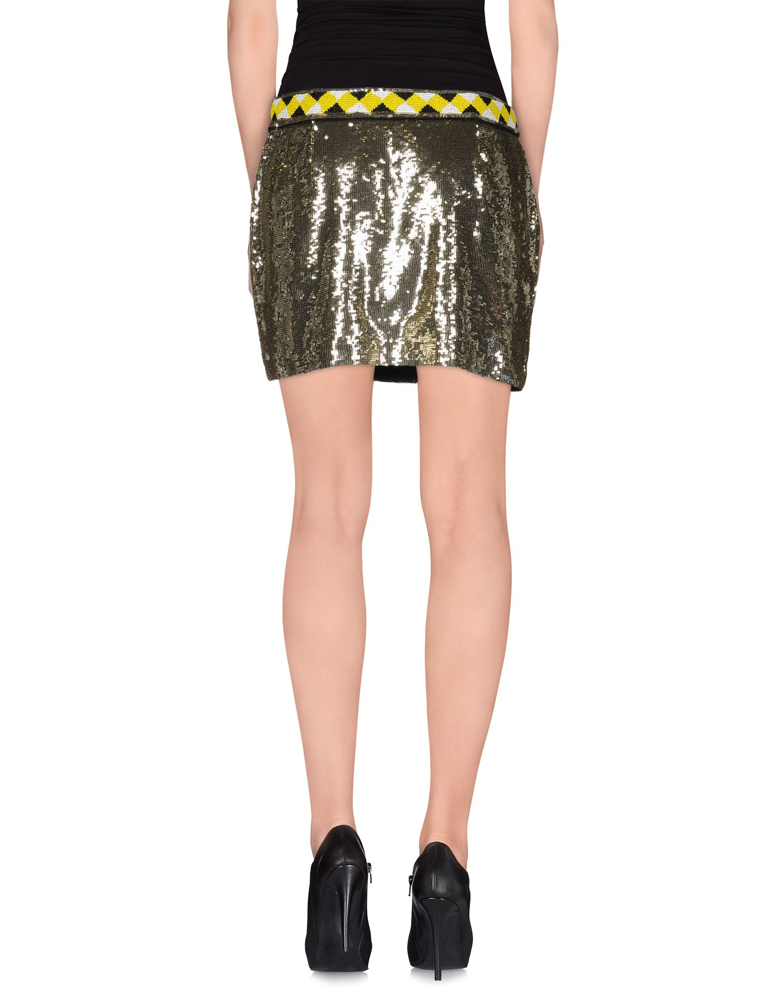 sass bide mini skirt in metallic lyst