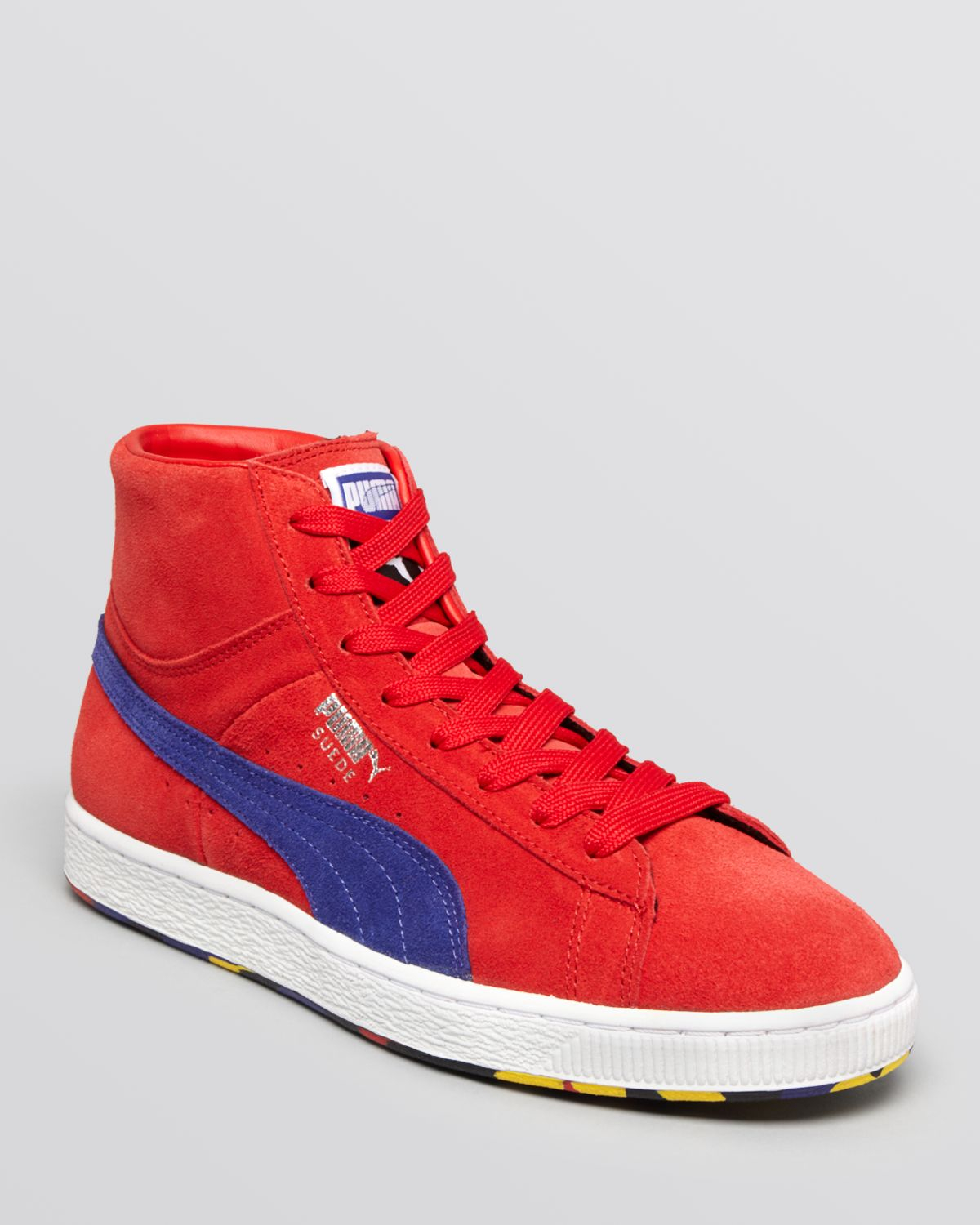 19ddcaa1264 Lyst - PUMA Suede Classic Rubber Mix Mid Sneakers in Red for Men