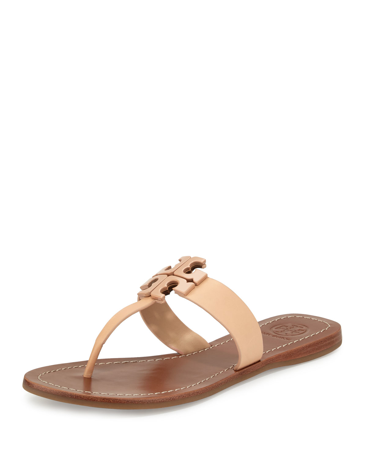 948a6078641 Lyst - Tory Burch Moore 2 Leather Thong Sandals in Natural