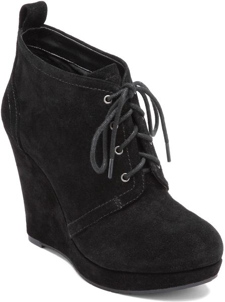 Jessica Simpson Catcher Suede Wedge Booties In Black Lyst