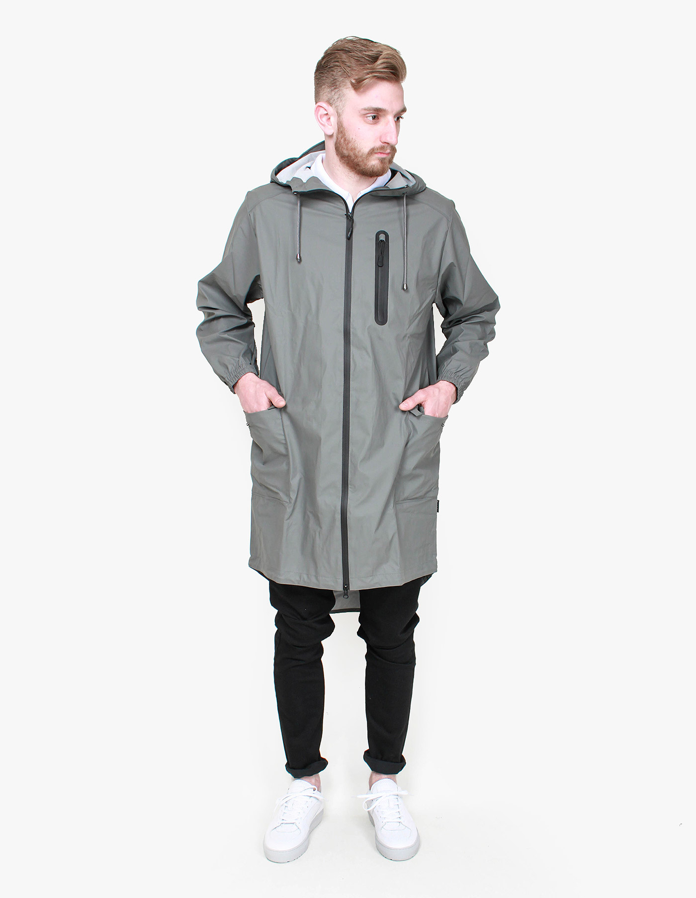 Rains Parka Coat in Gray for Men | Lyst