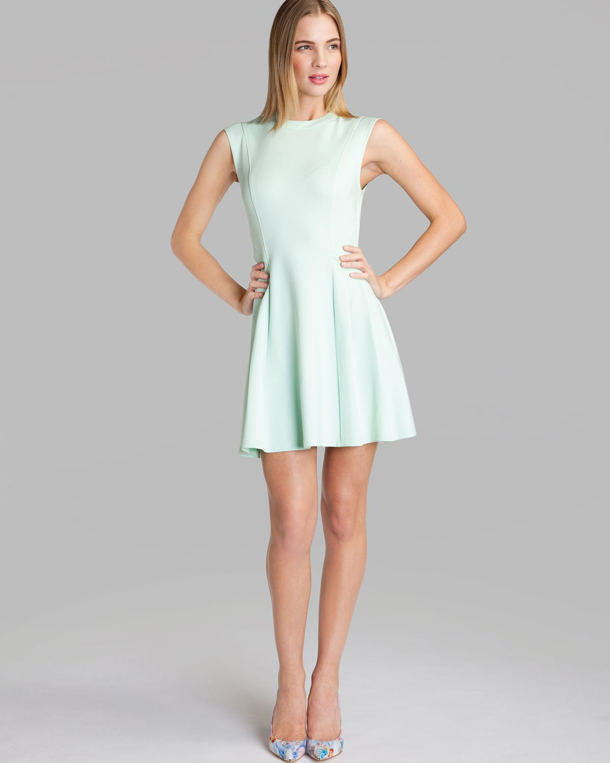 Lyst Ted Baker Dress Nistee Skater In Green