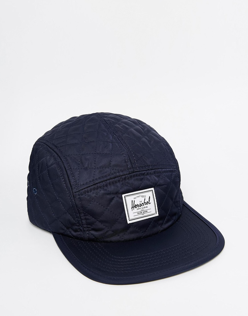 Lyst - Herschel Supply Co. Glendale Classic Quilted 5 Panel Cap in ... 8e0773b01b1