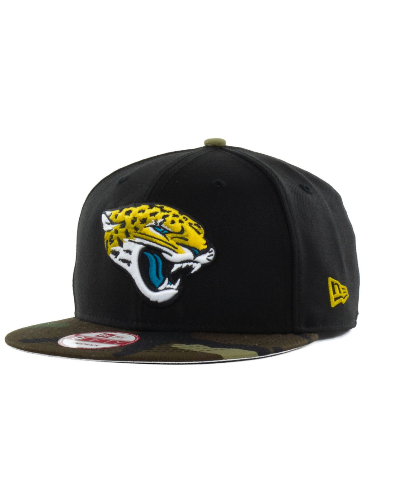 best website 8b779 2c0ec Lyst - KTZ Jacksonville Jaguars Woodland Team Color 9fifty Snapback ...