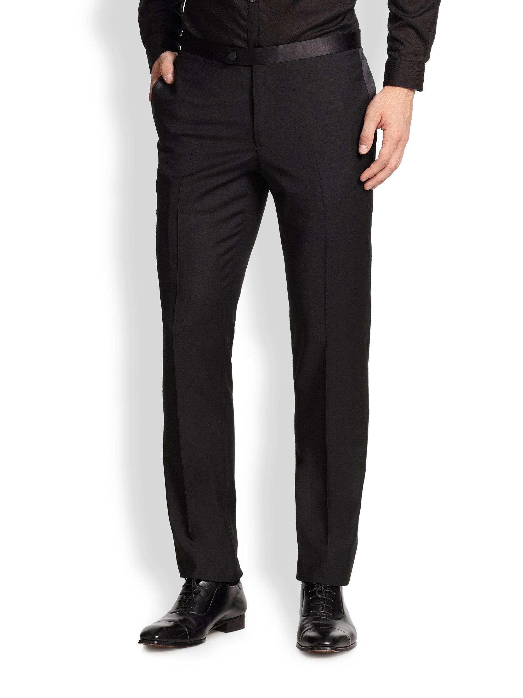 J.lindeberg Porter Fresco Tuxedo Pants in Black for Men