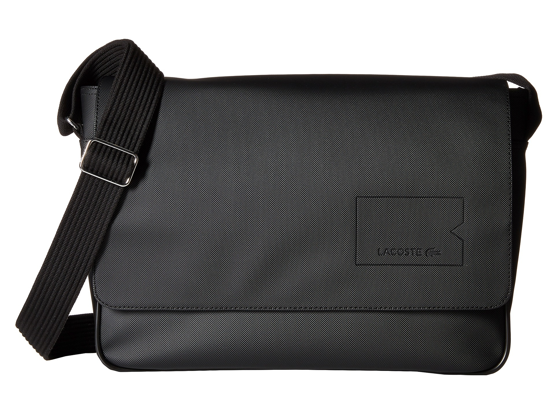 5bbbac01a Lyst - Lacoste Classic Messenger Bag in Black for Men
