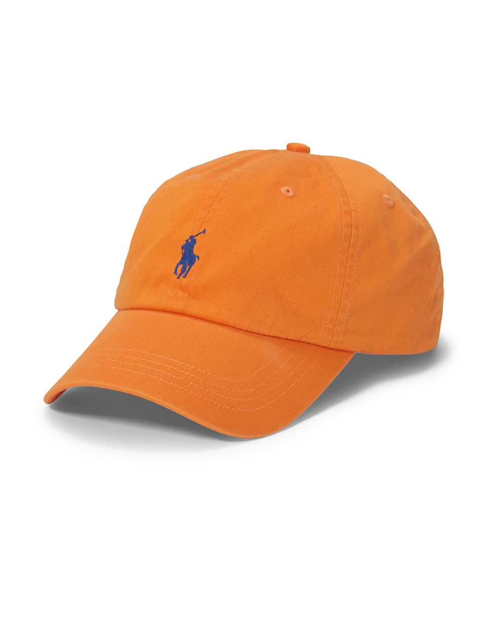 polo ralph lauren classic chino sports cap in orange for. Black Bedroom Furniture Sets. Home Design Ideas