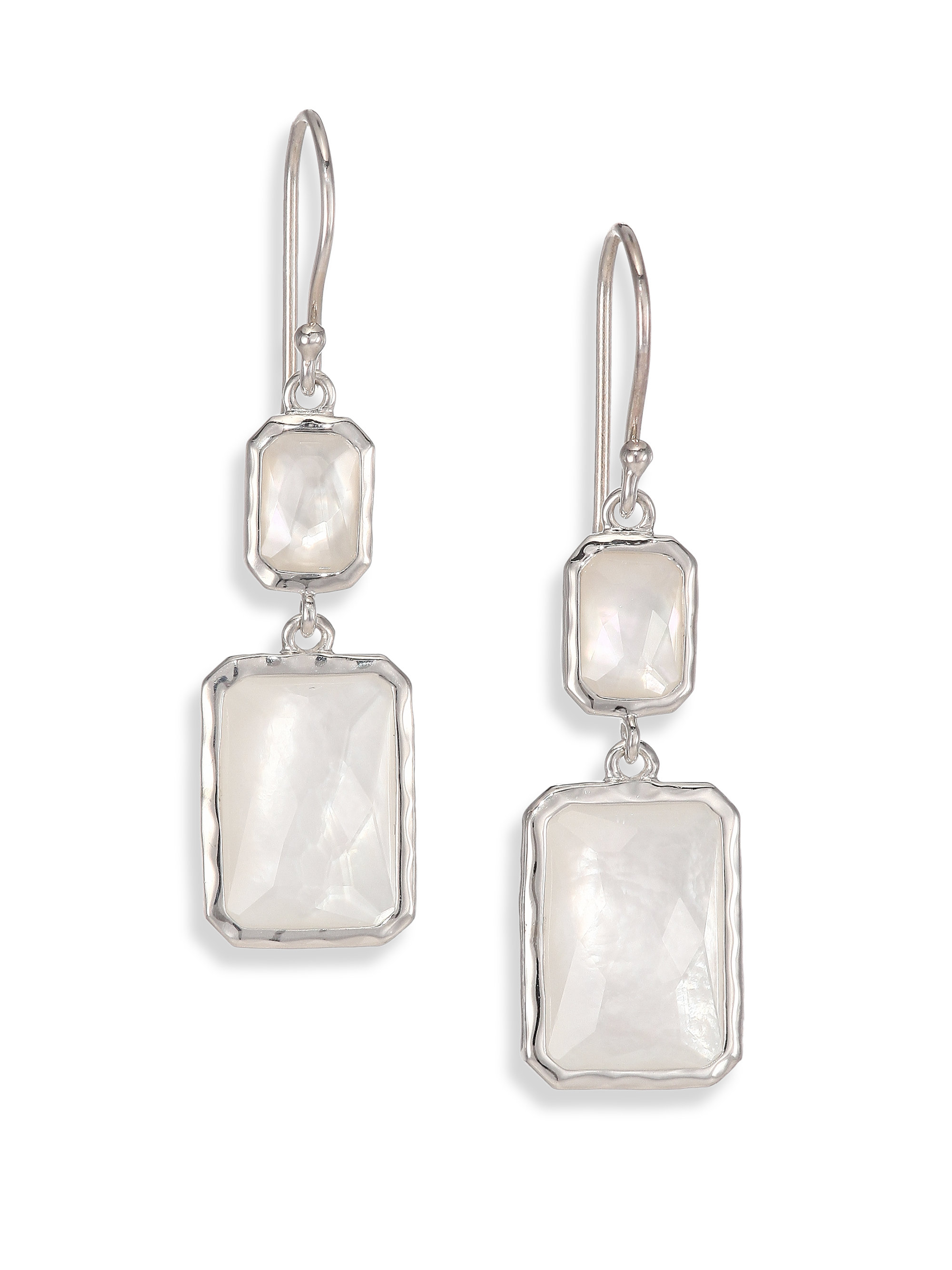 Ippolita 18K Rock Candy Black Mother-of-Pearl Snowman Earrings L0nWE