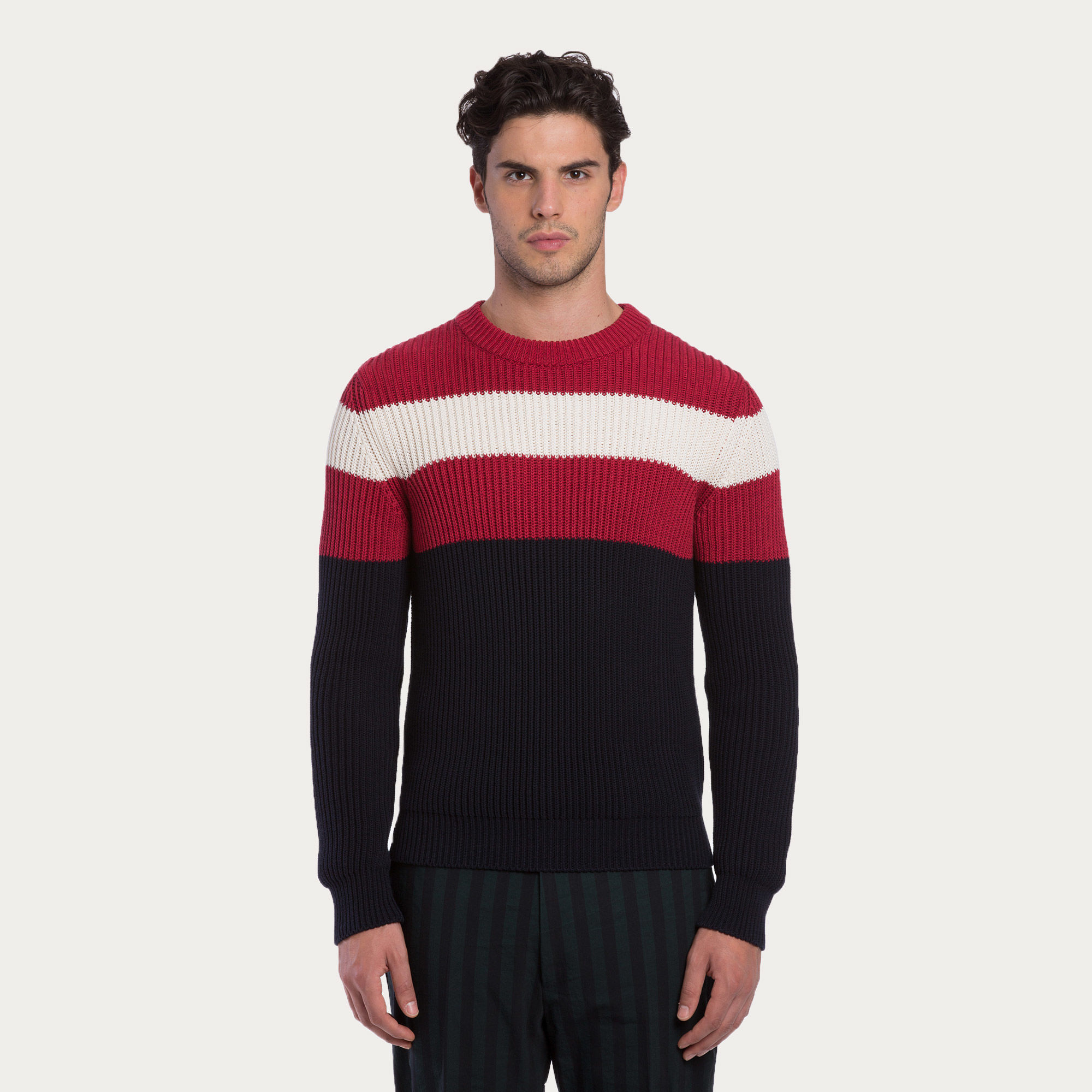 Bally Cotton Sweater In Red For Men Lyst