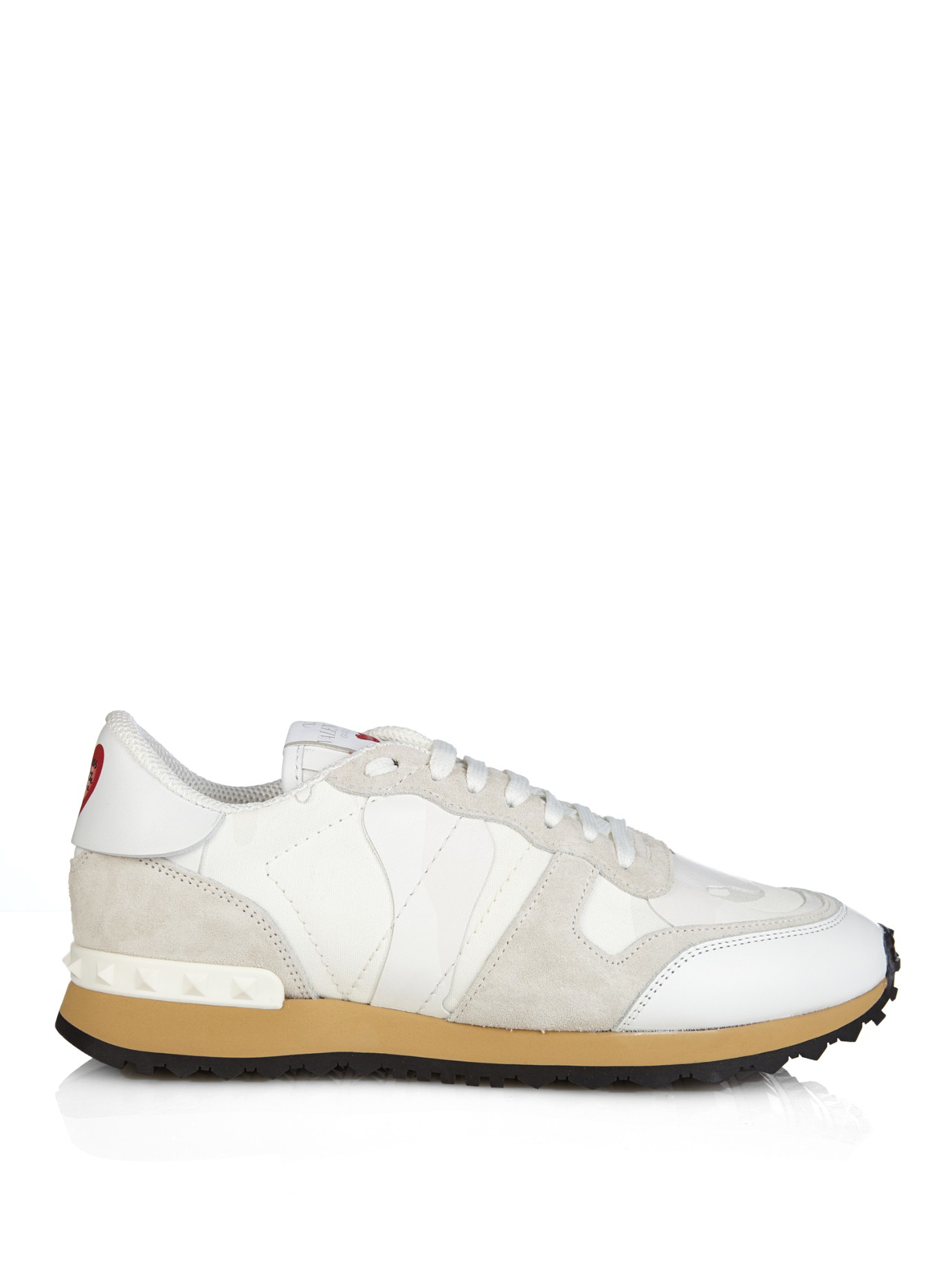 a6b5cd5e7ef2 Lyst Valentino L Amour Rockrunner Camouflage Print Trainers In White