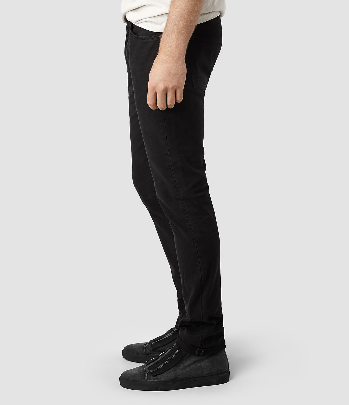 Allsaints Sodium Cigarette Jeans in Black for Men | Lyst