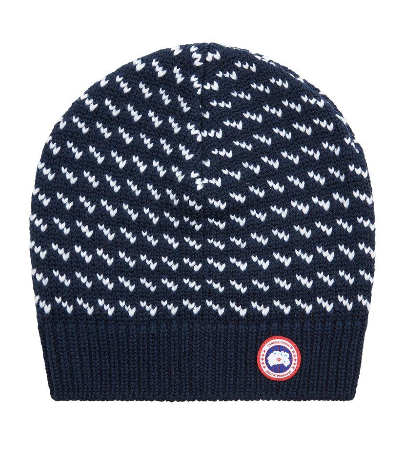 Canada goose Merino Birdseye Beanie Hat in Blue for Men | Lyst