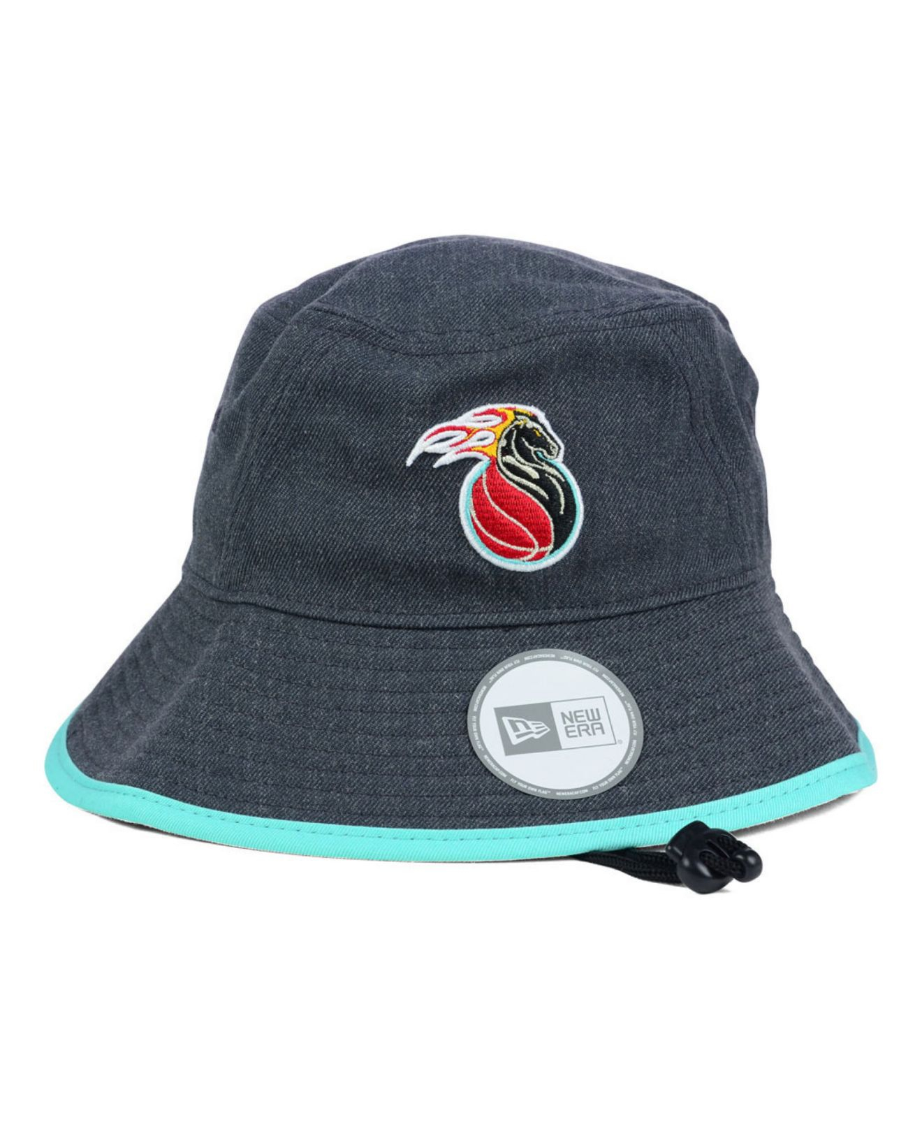 956347f5ac4 ... shop lyst ktz detroit pistons dark heather tipped bucket hat in gray  26205 e921f