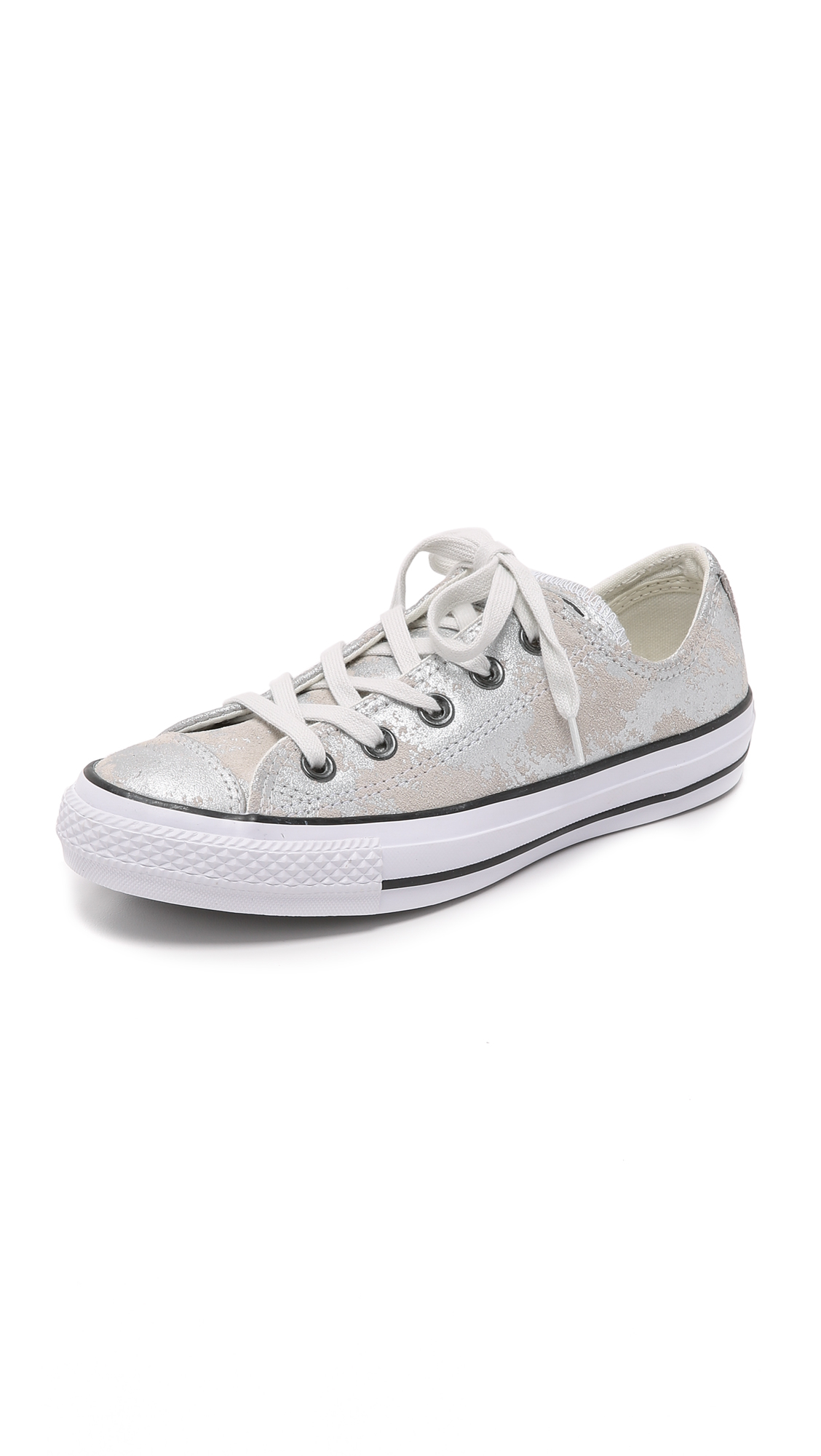 5a00937ca6dc Lyst - Converse Chuck Taylor All Star Oxford Sneakers - Silver mouse ...