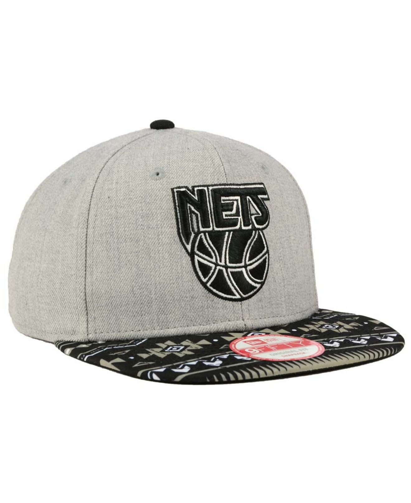 15d300595d8 Lyst - Ktz New Jersey Nets Neon Mashup 9fifty Snapback Cap in Gray ...
