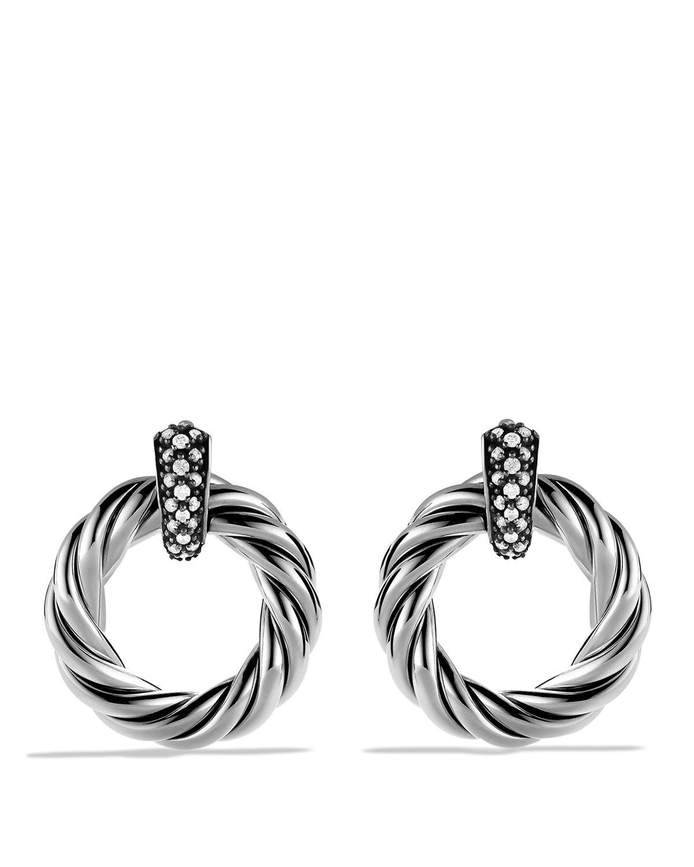 david yurman cable classics earrings with diamonds in