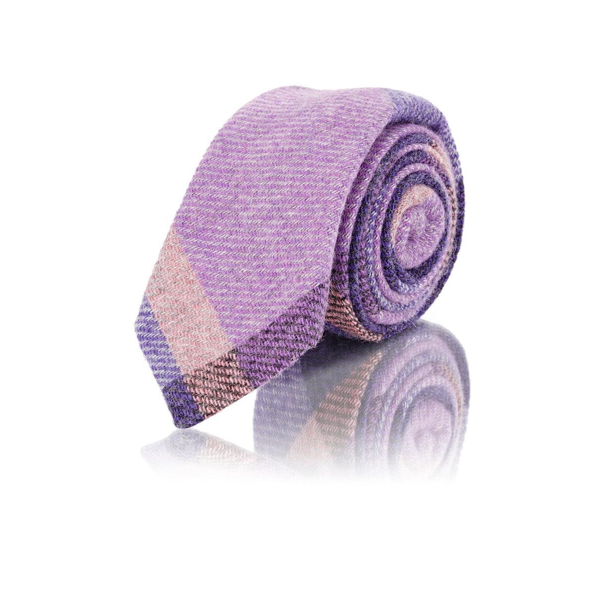 65404288c433 Lyst - Alexander Olch Men's Plaid Tweed Necktie in Purple for Men