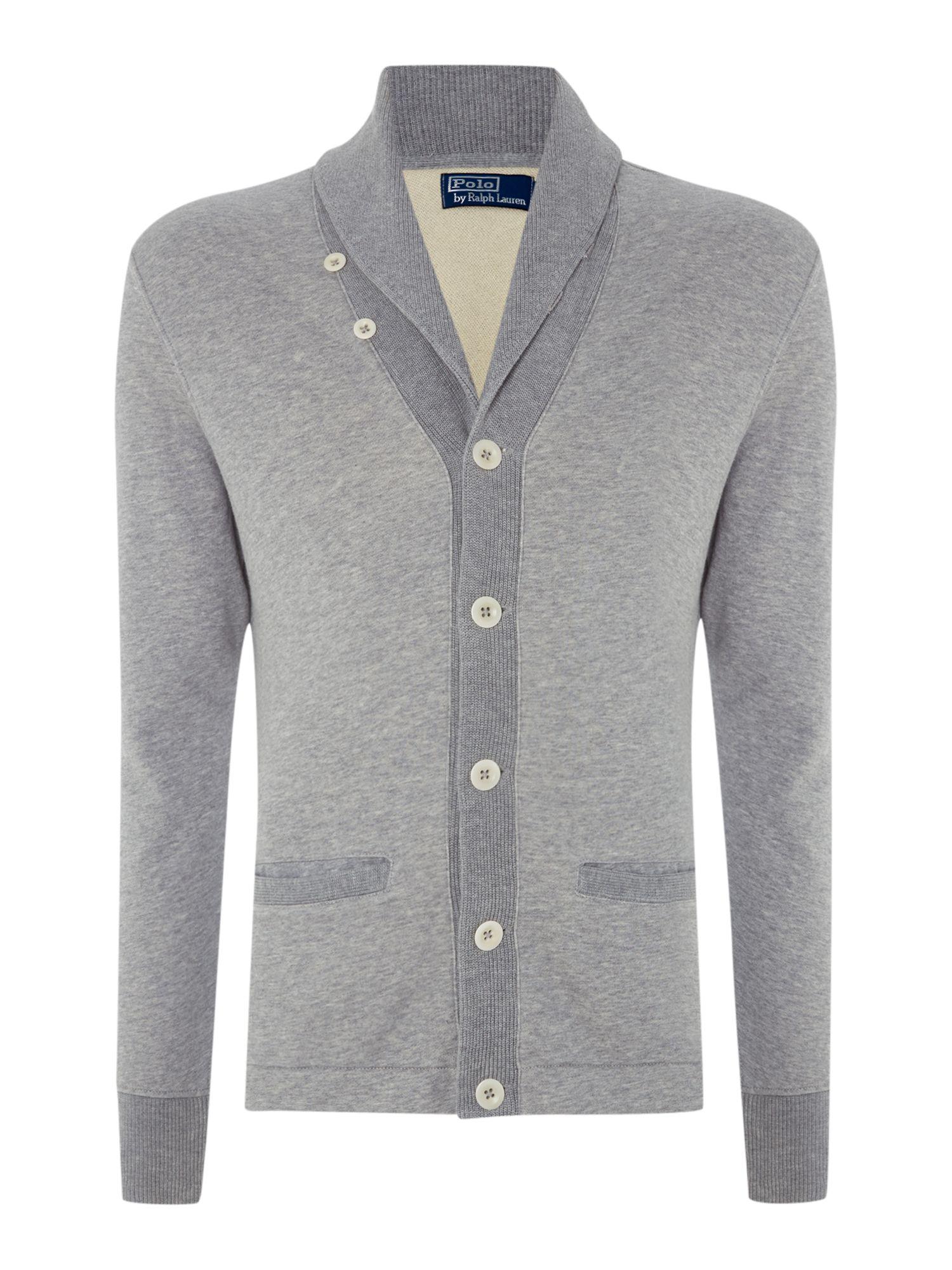 Lyst polo ralph lauren heavy knit shawl collar button for Heavy button down shirts