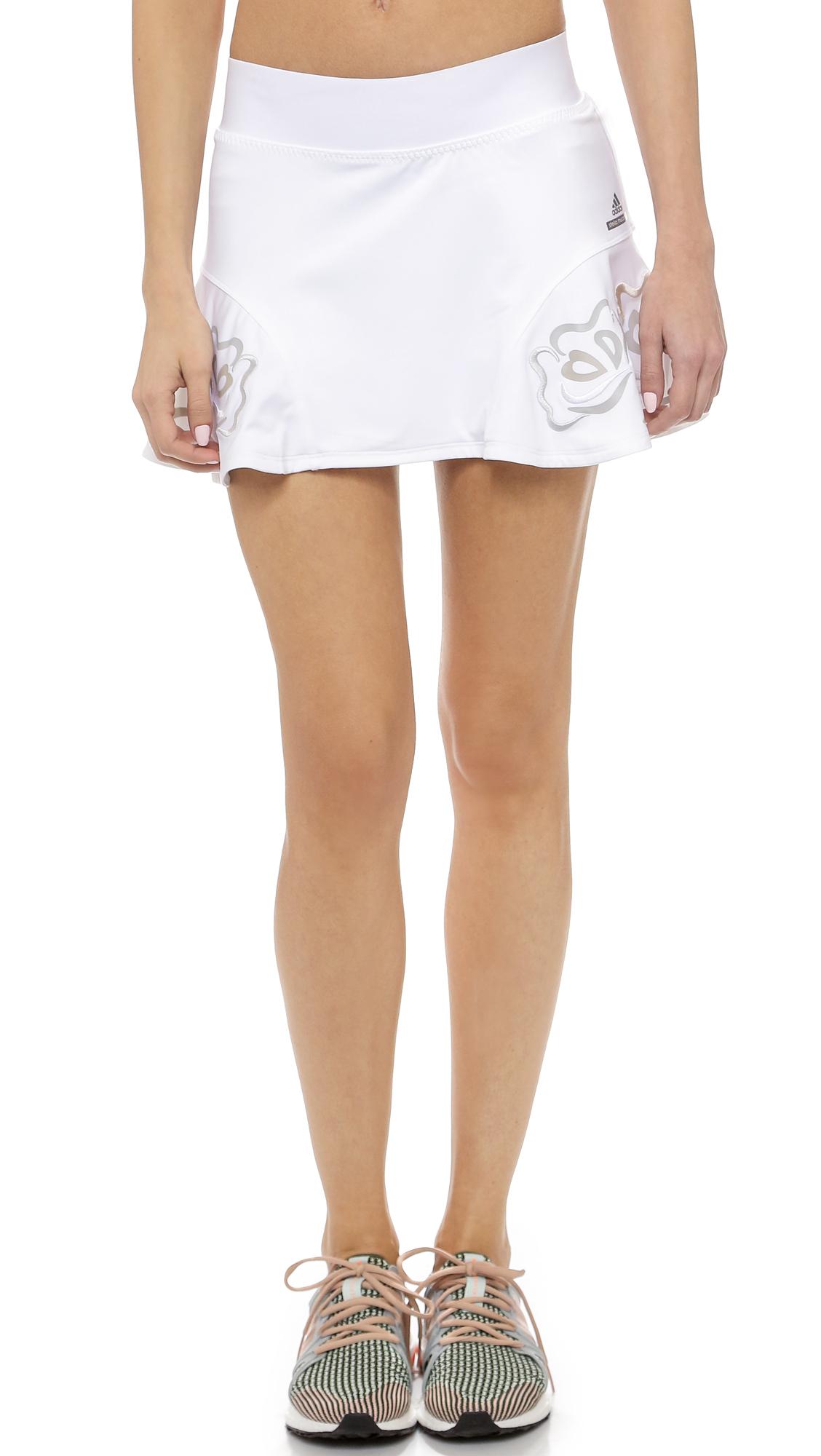 Adidas by Stella McCartney Tennis skort Lyst blanco en blanco