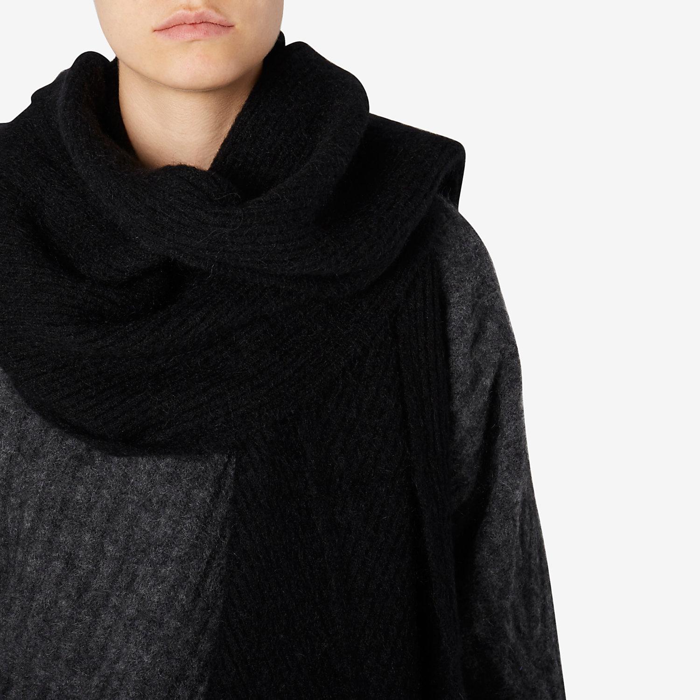 acne vilia mohair scarf in black lyst