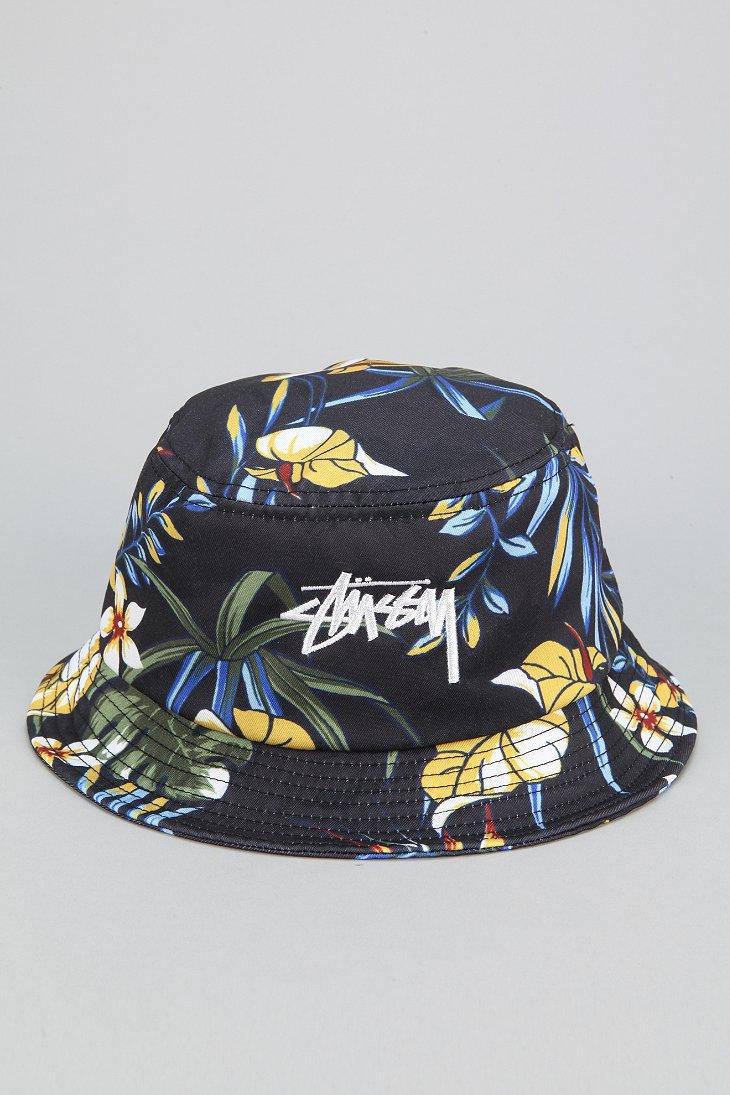 Lyst - Stussy Paradise Bucket Hat in Black for Men 8e931f9c3
