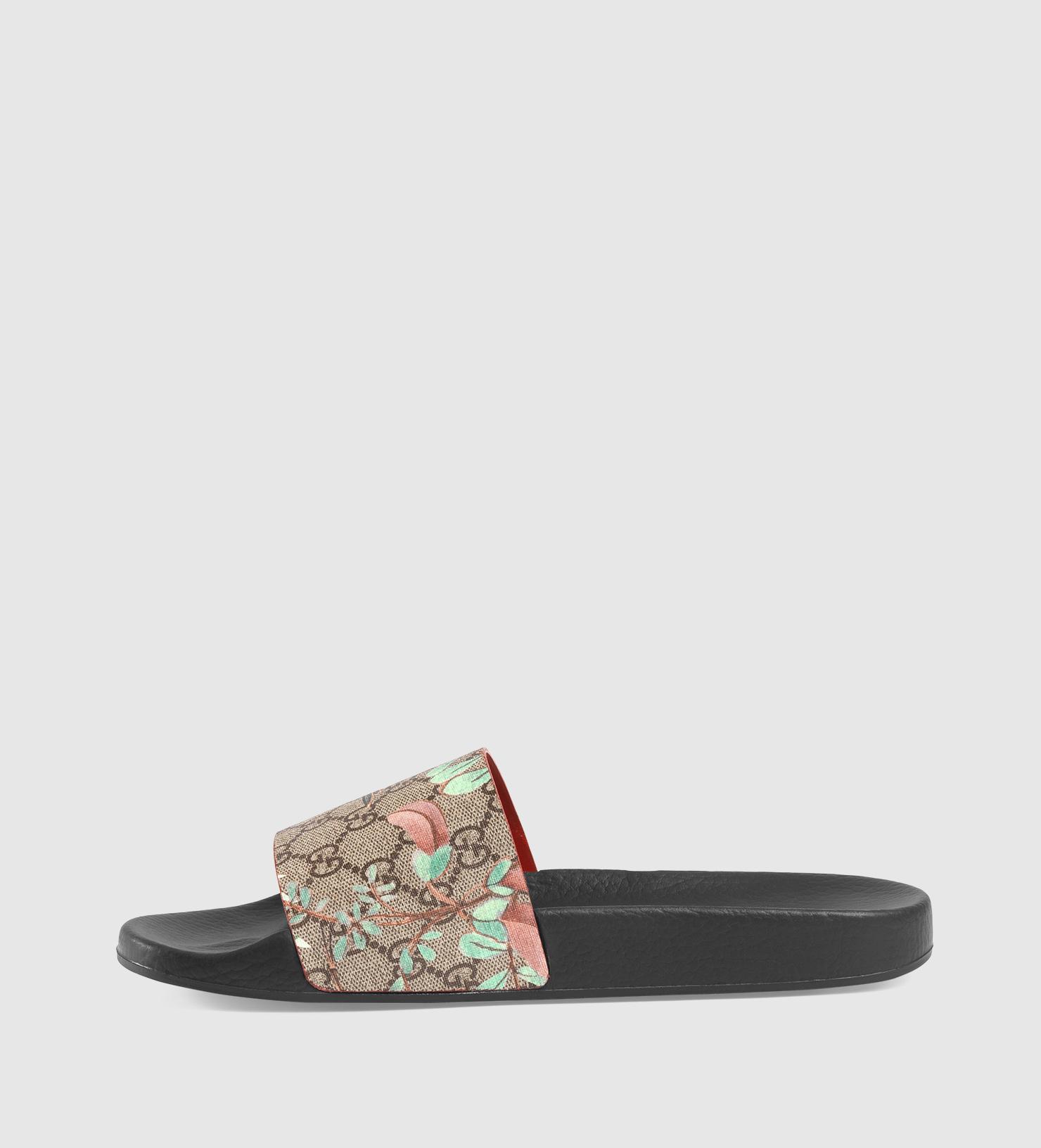 fd2f0aef8d8 Gucci Men s Tian Slide Sandal in Gray for Men - Lyst