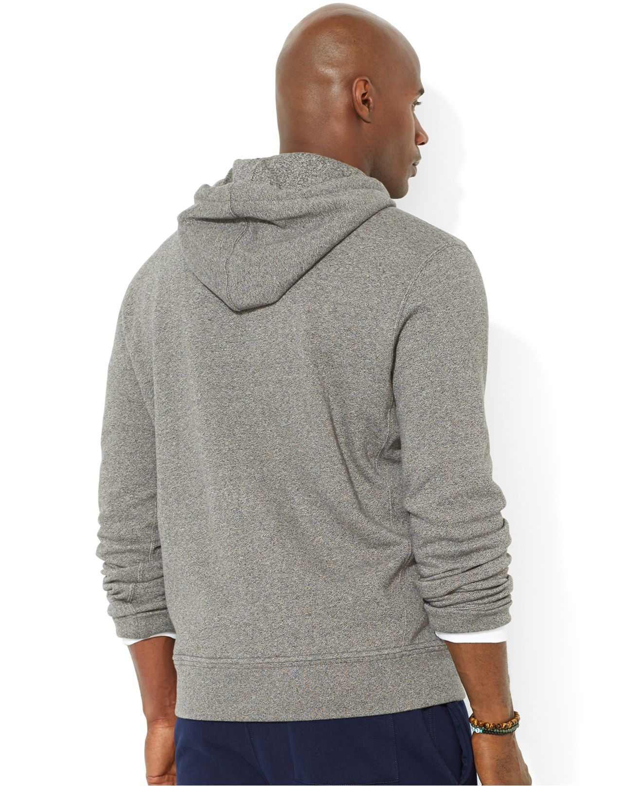 Polo ralph lauren Big And Tall Classic Fleece Full Zip Hoodie in Gray for Men (