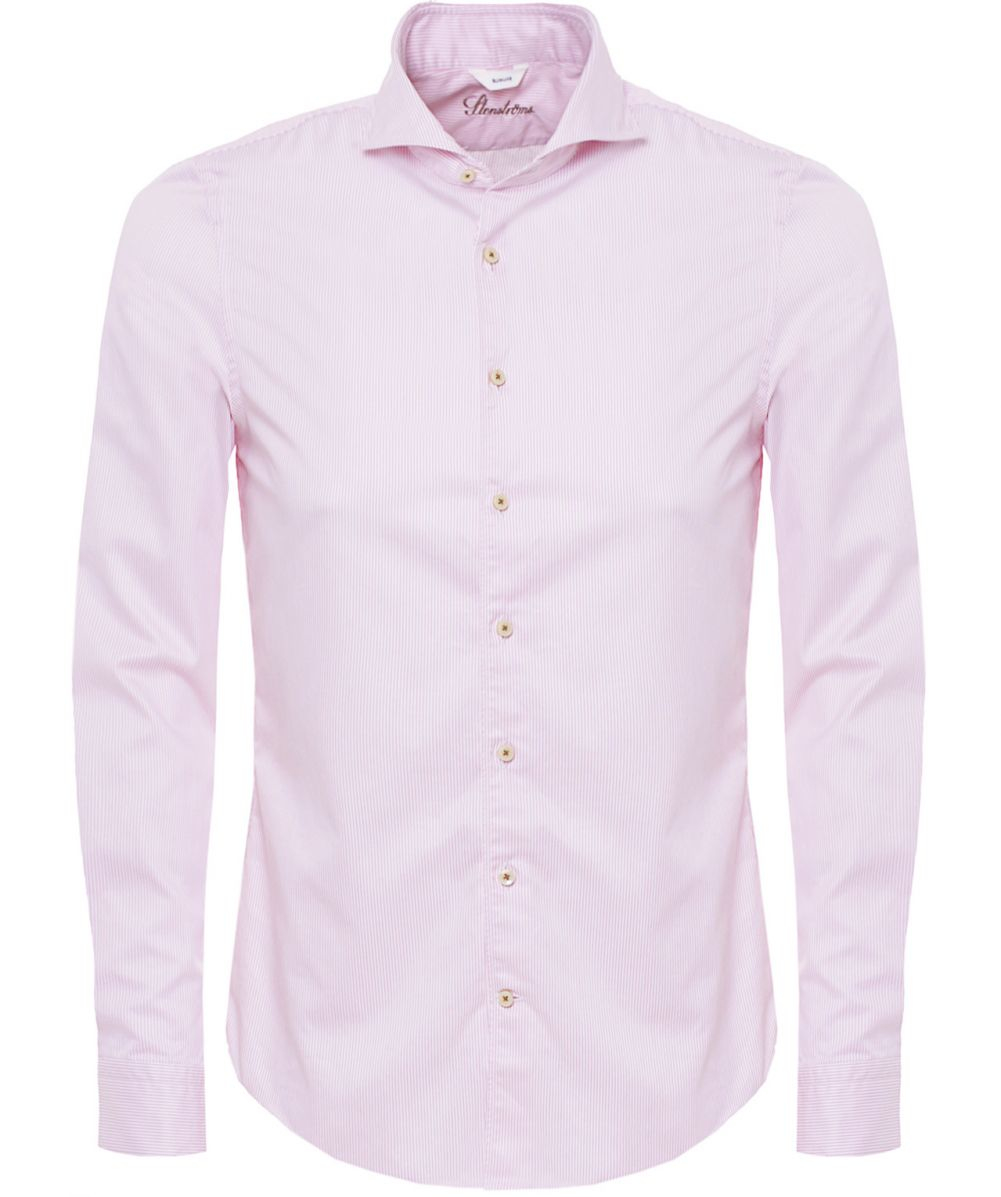 Stenstroms Slimline Pinstripe Shirt in Pink for Men | Lyst