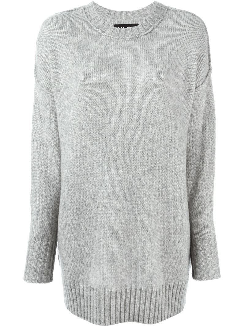 6e5f2a058887d2 Lyst - NLST Oversized Sweater in Gray