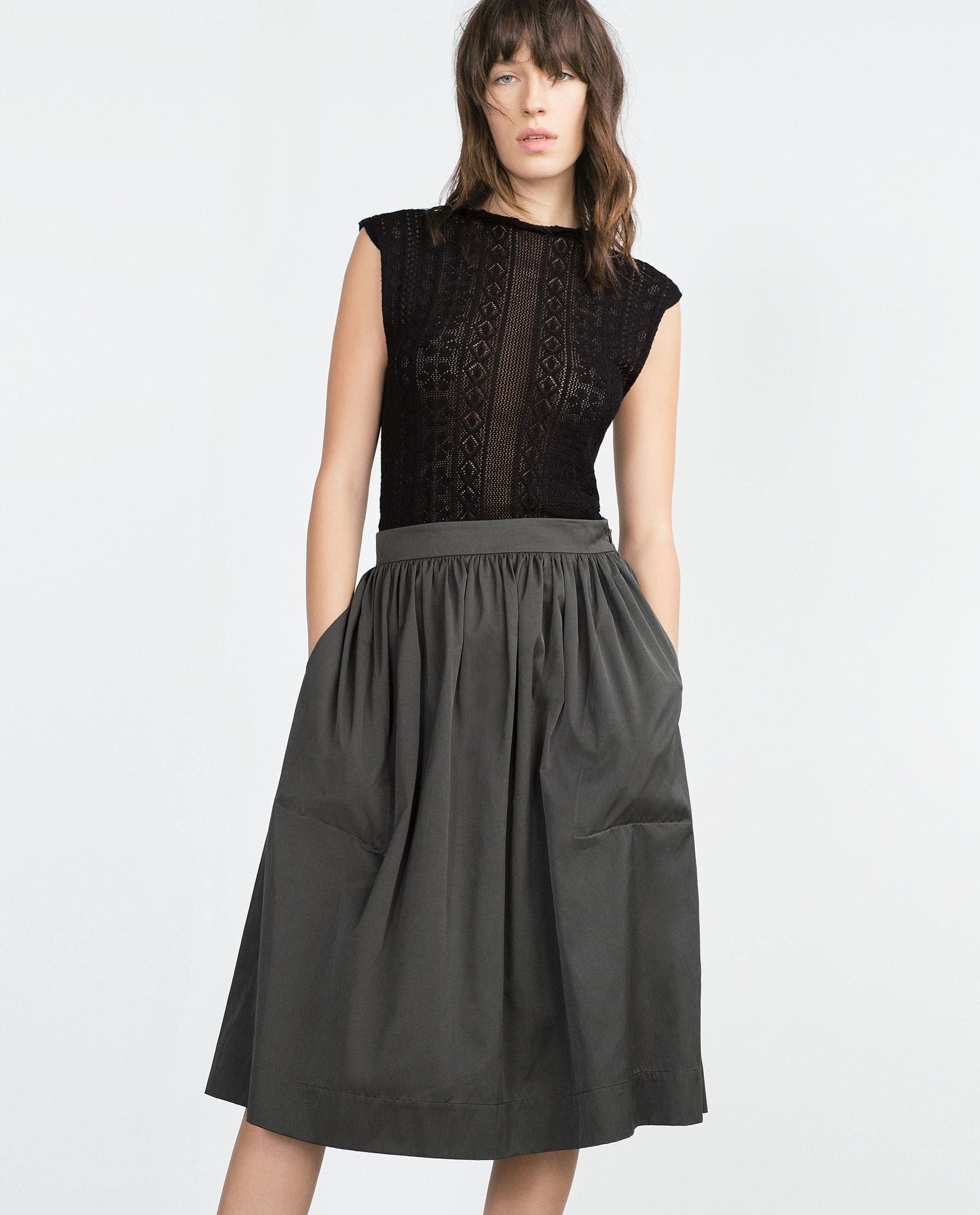 Dark Grey Midi Skirt | Jill Dress