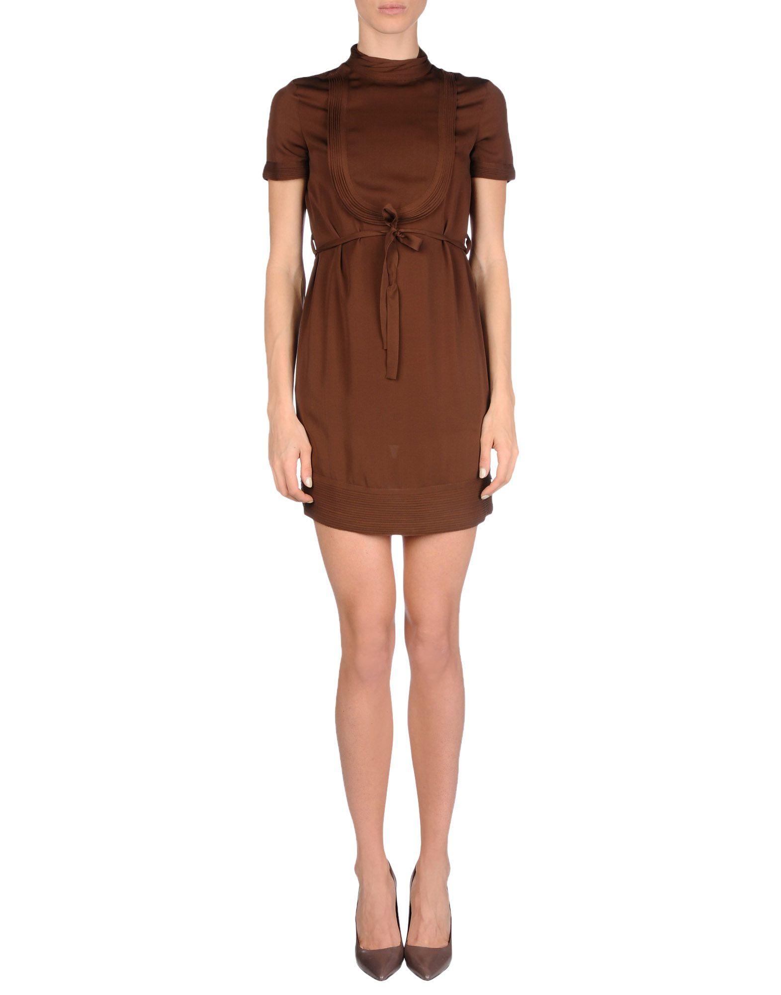Lyst - Dsquaredu00b2 Short Dress in Brown