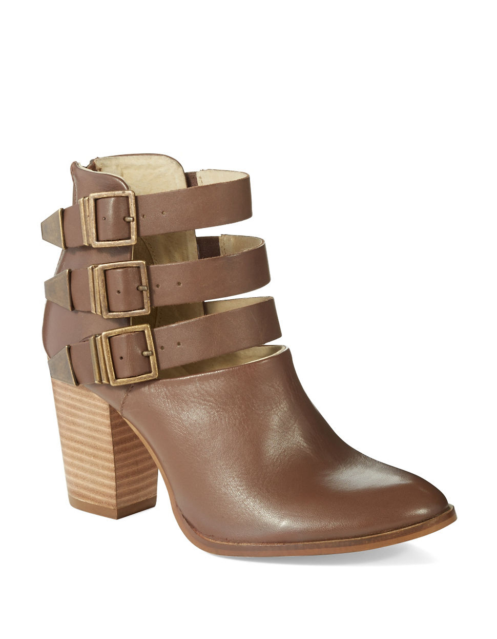 seychelles haywire strapped booties in brown lyst