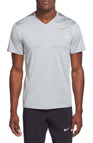 cb1dd236b39aa Nike 'ultimate Dry' Dri-fit Training V-neck T-shirt in Gray for Men ...
