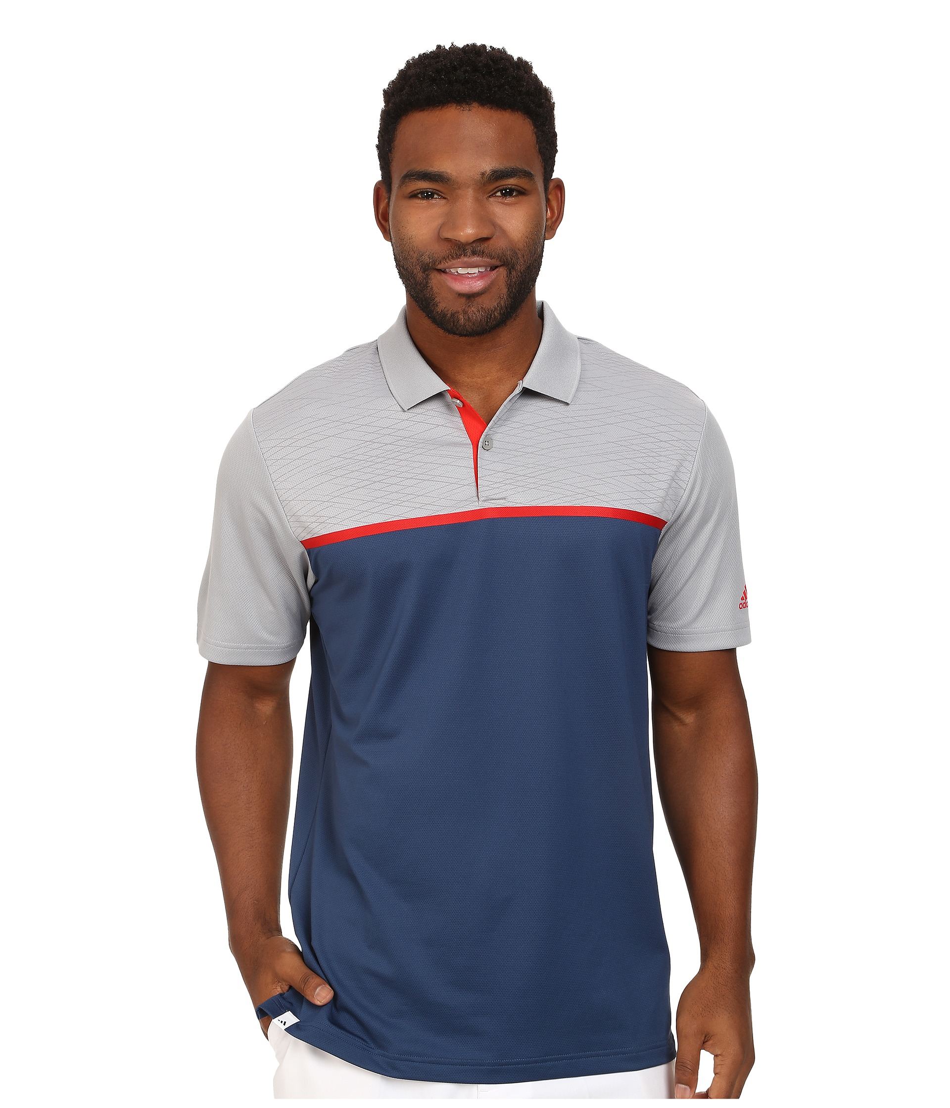256d67885e3 Lyst - adidas Climacool® Energy Color Block Polo in Blue for Men