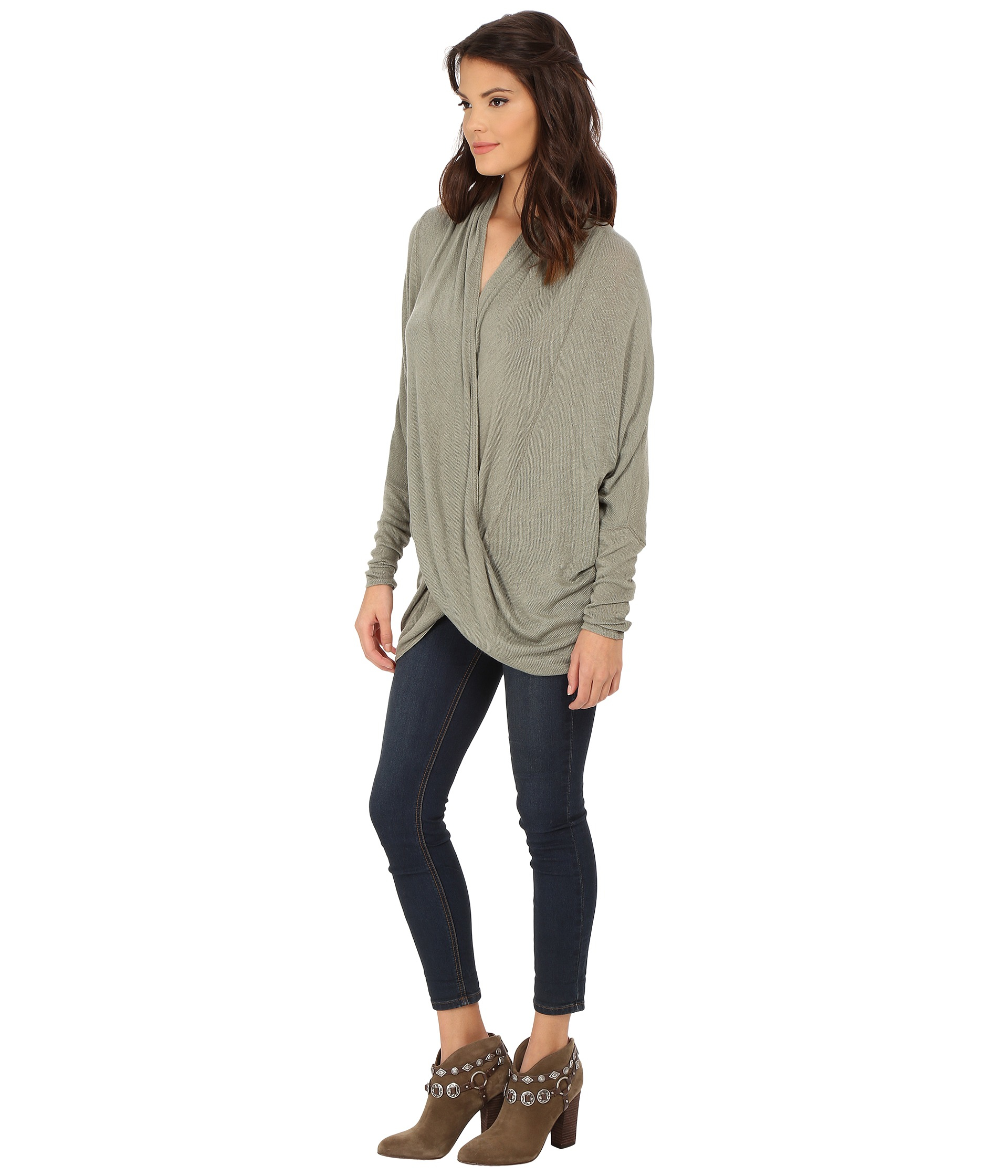89a200f514f8 Lyst - Free People Sheila Hacci Top in Green