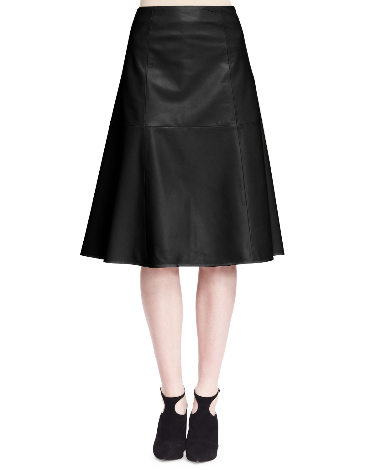 the row rellin a line leather skirt in black lyst