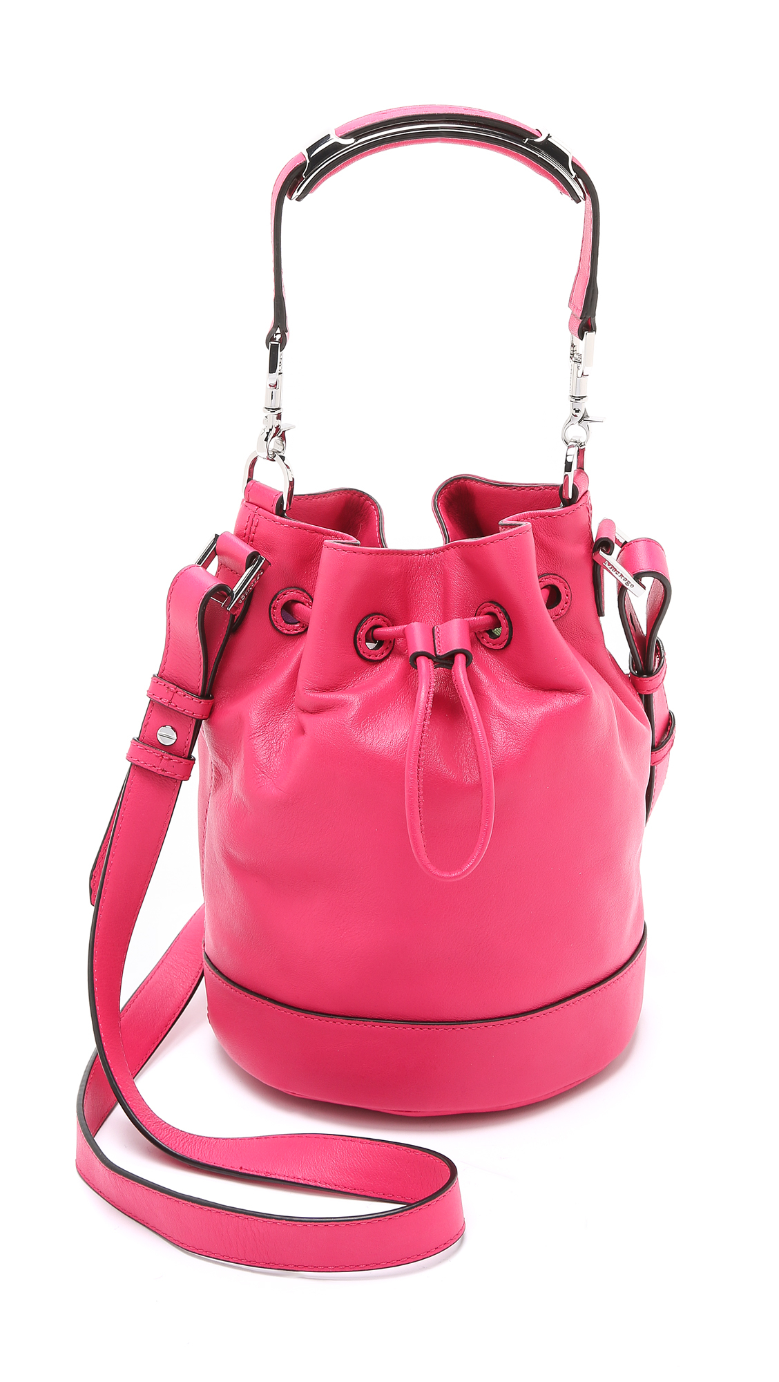 Mackage Dafney Mini Bucket Bag Hot Pink In Pink Lyst