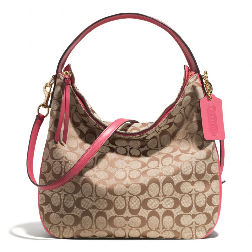 dd1369835f COACH Bleecker Sullivan Hobo Bag in Signature Fabric in Pink - Lyst